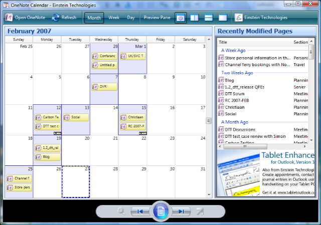 OneNote Calendar is a new free tool from Josh Einstein, allowing you ...